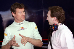David Coulthard and Christian Horner