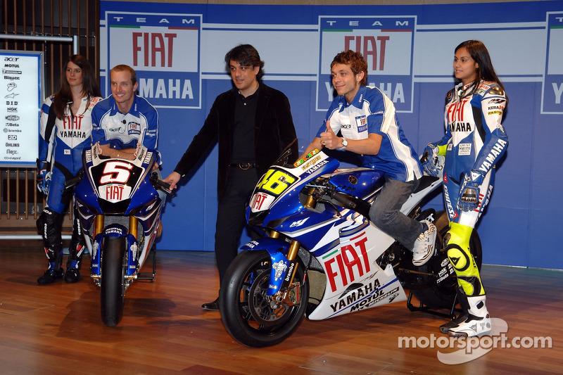 Colin Edwards, Luca de Mea et Valentino Rossi