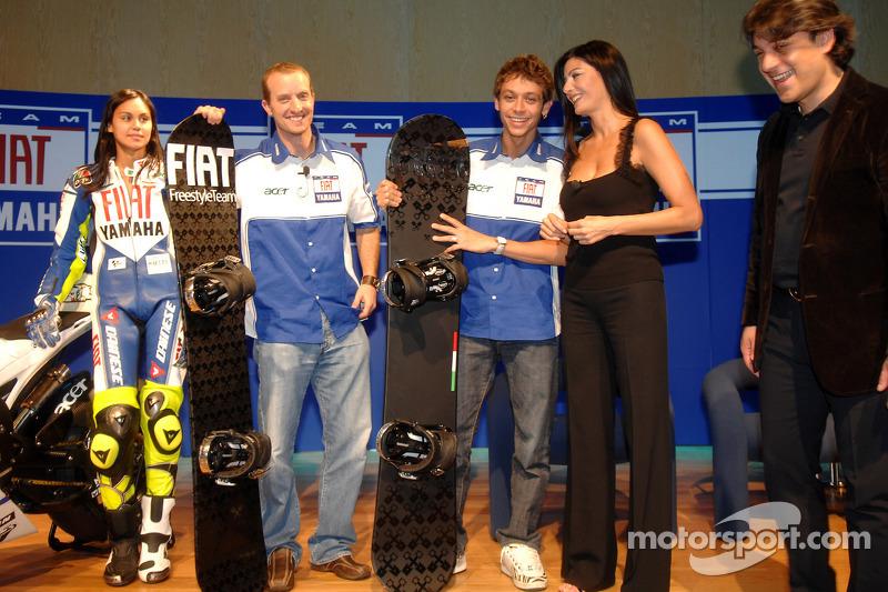 Colin Edwards, Valentino Rossi et Luca de Meo
