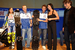 Colin Edwards, Valentino Rossi and Luca de Meo