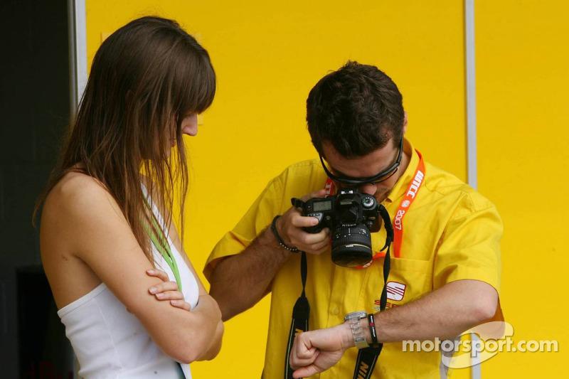 Tiago Monteiro, SEAT Sport, SEAT Leon, photographie sa montre