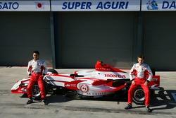 Takuma Sato, Super Aguri F1 and Anthony Davidson, Super Aguri F1 Team, Super Aguri F1 Team, SA07, Launch