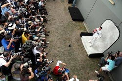 Robert Kubica,  BMW Sauber F1 Team, as photographers shoot his portrait