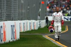 Rubens Barrichello, Honda Racing F1 Team, RA107, spun during the session