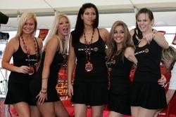 Bacardi party zone: Bacardi girls dance