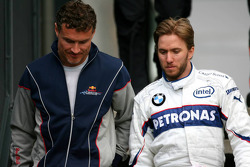 David Coulthard, Red Bull Racing and Nick Heidfeld, BMW Sauber F1 Team