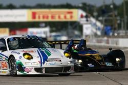 #54 Team Trans Sport Racing Porsche 911 GT3 RSR: Tim Pappas, Terry Borcheller, Marc Basseng, #26 Andretti Green Racing Acura ARX-01a Acura: Bryan Herta, Dario Franchitti, Tony Kanaan