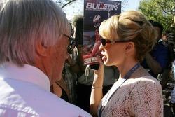 Bernie Ecclestone and Kylie Minogue, Australian pop-singer