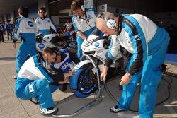 Konica Minolta Honda team members at work