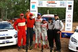 Simon and Sue Evans win coates Rally Queensland