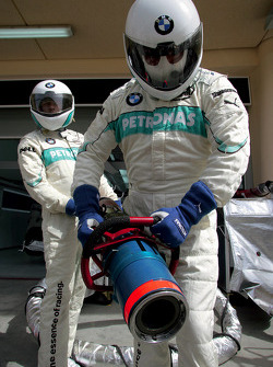 Pitstop practice at BMW