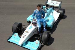 Graham Rahal poses with the Newman Hass Lanigan Racing Panoz DP01