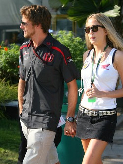 Jenson Button, Honda Racing F1 Team with Florence Brudenell, Girlfriend of Jenson Button