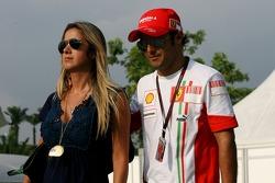 Felipe Massa, Scuderia Ferrari and Rafaela Bassi, Girl Friend, girlfriend of Felipe Massa