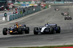 David Coulthard, Red Bull Racing, RB3 and Alexander Wurz, Williams F1 Team, FW29