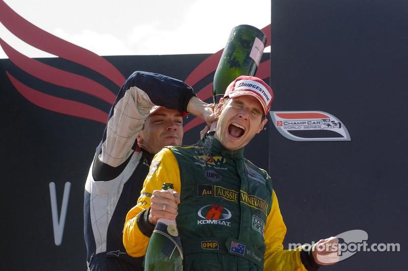 Will Power and Robert Doornbos celebrate
