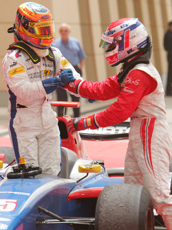 Nicolas Lapierre (FRA, DAMS) 1st and Timo Glock (GER, iSport International) 2nd