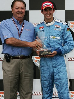 Podium: second place Graham Rahal