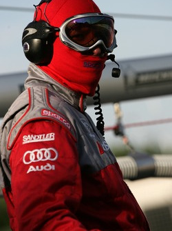 Audi Sport North America team member ready for the next pitstop