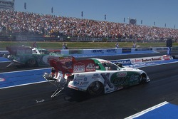 Ashley Force defeated her father John Force in Round 1