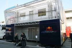 Red Bull Racing engineers Motorhome