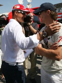 Michael Schumacher, Scuderia Ferrari, Advisor, visits the team on a race weekend for the first time since retiring