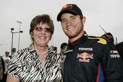 Brian Vickers poses for a photo with his mom, Ramona Vickers