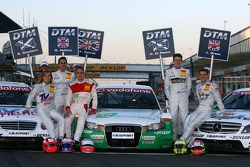 The British drivers in the DTM From left to right: Susie Stoddart, Mücke Motorsport AMG Mercedes, Gary Paffett, Persson Motorsport AMG Mercedes, Adam Carroll, TME, Paul di Resta, Persson Motorsport AMG Mercedes and Jamie Green, Team HWA AMG Mercedes