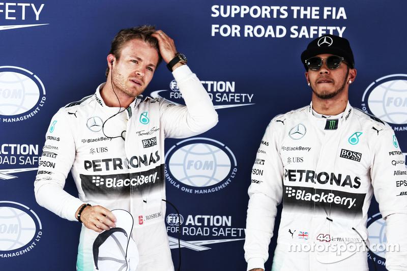 Nico Rosberg und Lewis Hamilton, Mercedes AMG