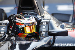 Stoffel Vandoorne, ART Grand Prix celebrates his win in Parc Ferme