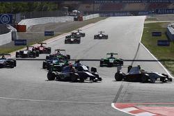 Alex Palou, Campos Racing leads Jann Mardenborough, Carlin