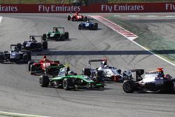 Alex Fontana, Status Grand Prix leads Matthew Parry, Koiranen GP