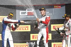 Podium: second place Jimmy Eriksson, Korainen GP and winner Marvin Kirchhofer, ART Grand Prix and third place Jann Mardenborough, Carlin