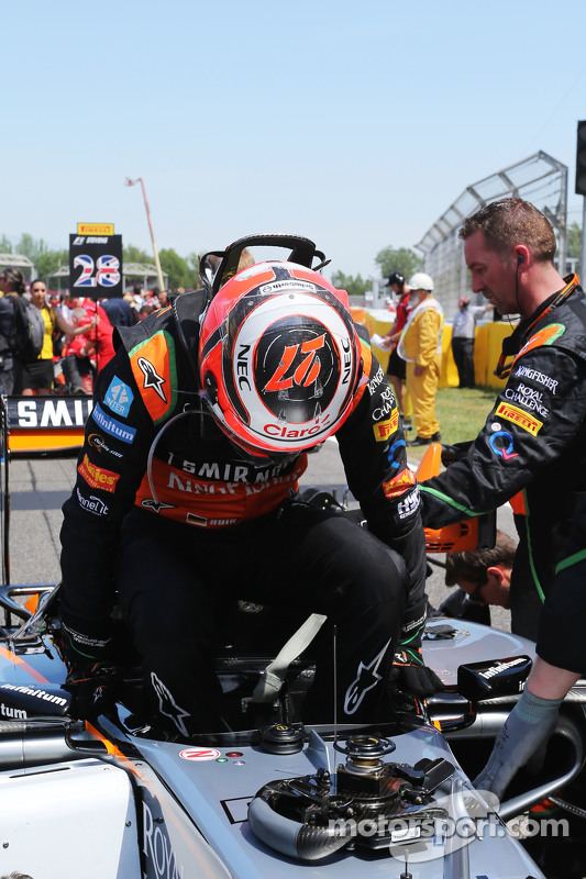 Нико Хюлькенберг, Sahara Force India F1 VJM08 на стартовой решетке