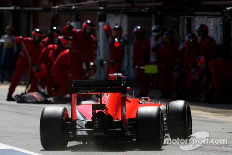 Will Stevens, Manor F1 Team, durante un pit stop
