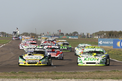 Omar Martinez, Martinez Competicion, Ford; Agustin Canapino, Jet Racing, Chevrolet, und Matias Rossi, Donto Racing, Chevrolet