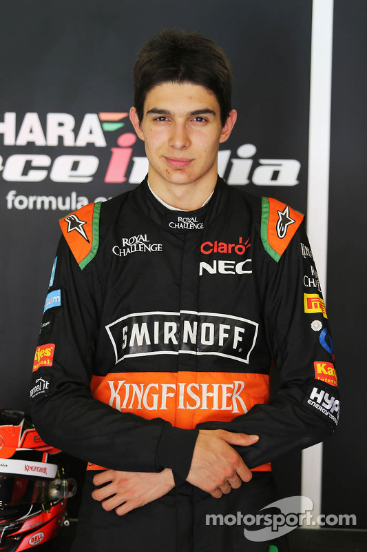 Esteban Ocon, Sahara Force India F1 Team piloto de teste