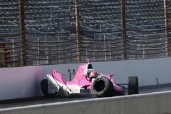 Pippa Mann, Dale Coyne Racing Honda in huge crash