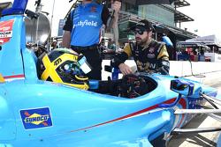 Conor Daly, Schmidt Peterson Motorsports, Honda, und James Hinchcliffe, Schmidt Peterson Motorsports, Honda