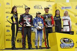 Segment one winner Грег Біффл, Roush Fenway Racing Ford, fan vote winner Даніка Патрік, Stewart-Haas Racing Chevrolet, segment two winner Клінт Бойєр, Michael Waltrip Racing Toyota