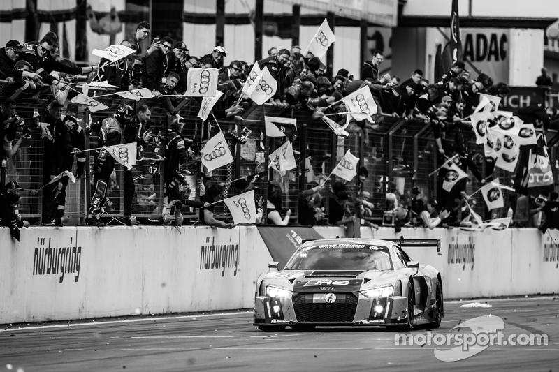 1. #28 Audi Sport Team WRT, Audi R8 LMS: Christopher Mies, Edward Sandström, Nico Müller, Laurens Va