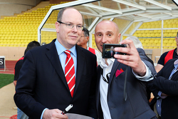 HSH Prince Albert of Monaco at the charity football match