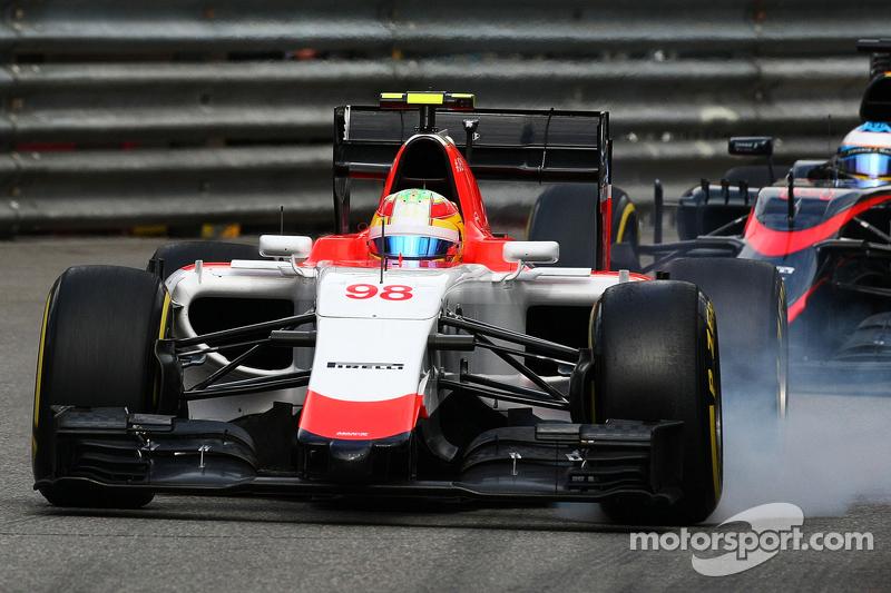 Roberto Merhi, Manor F1 Team locks up under braking