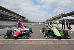 2. Jack Harvey, Schmidt Peterson Motorsports, und Pole-Sitter Ethan Ringel, Schmidt Peterson Motors