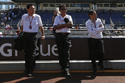 Yasuhisa Arai, directeur du sport autombile chez Honda et Aguri Suzuki