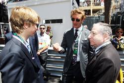 Andrea Albert Pierre Casiraghi, nipote del Principe Alberto di Monaco, sulla griglia di partenza con Jean Todt, Presidente FIA
