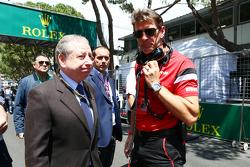 Graeme Lowdon, Manor F1 Team, con Jean Todt, Presidente de la FIA
