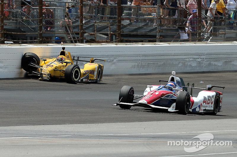 Оріол Сервія, Rahal Letterman Lanigan Racing Honda crashes