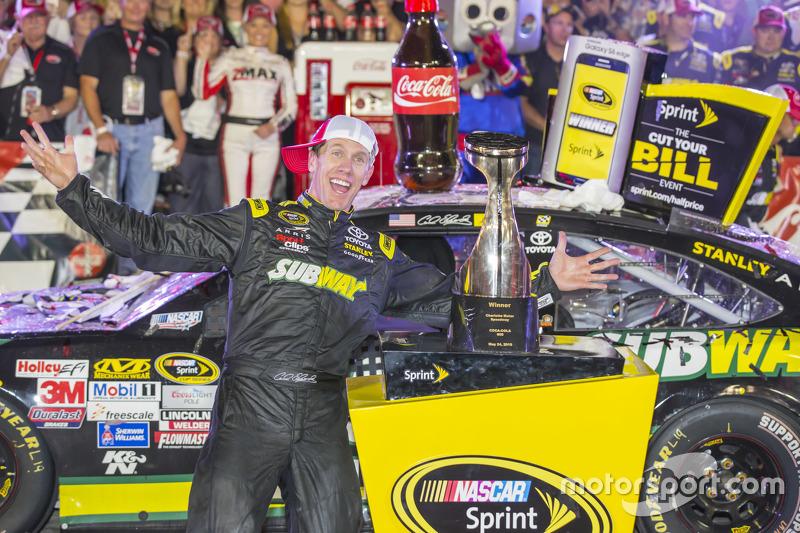 1. Carl Edwards, Joe Gibbs Racing, Toyota