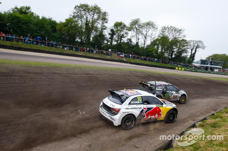 Petter Solberg, SDRX Citroën DS3 and Mattias Ekström, EKSRX Audi S1 quattro